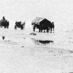 Bild: Flucht aus Ostpreußen über das zugefrorene Haff